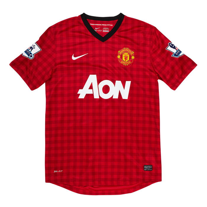 Man Utd home jersey EPL badges