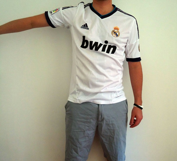 Real Madrid home jersey arm