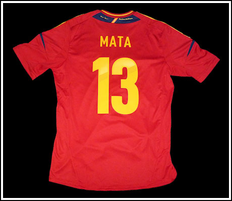 Spain home jersey name and number kit