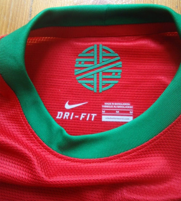 Portugal home jersey 2012 collar