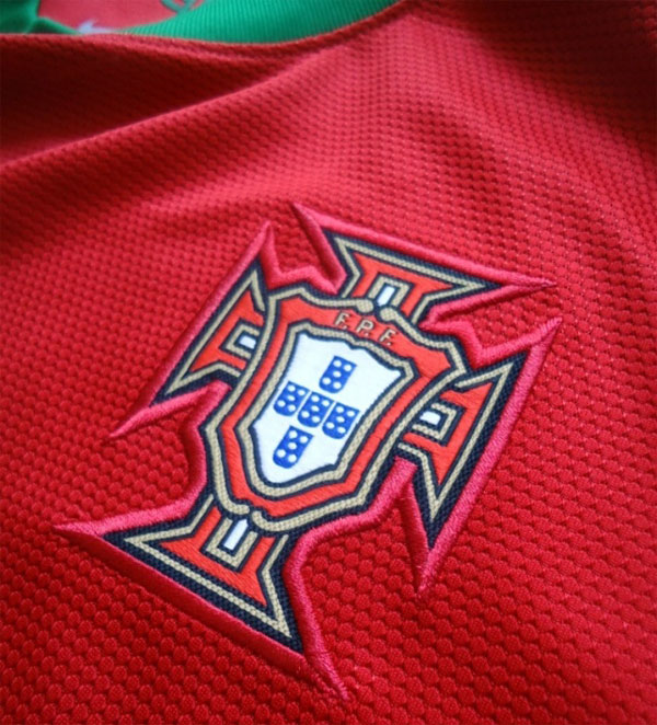 Portugal home jersey 2012 logo