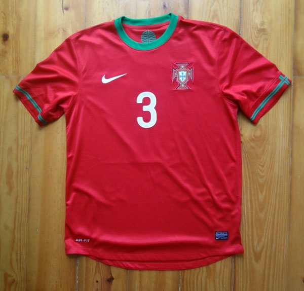 Portugal home jersey 2012 number 3