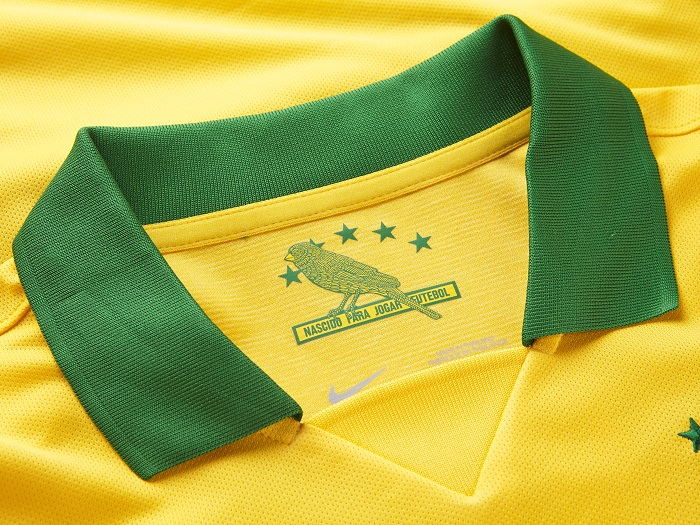 Brazil home jersey the high collar