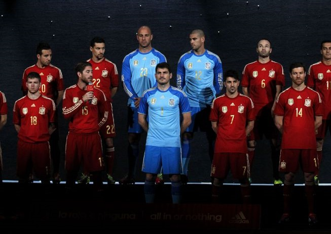 Spain home kit World Cup 2014