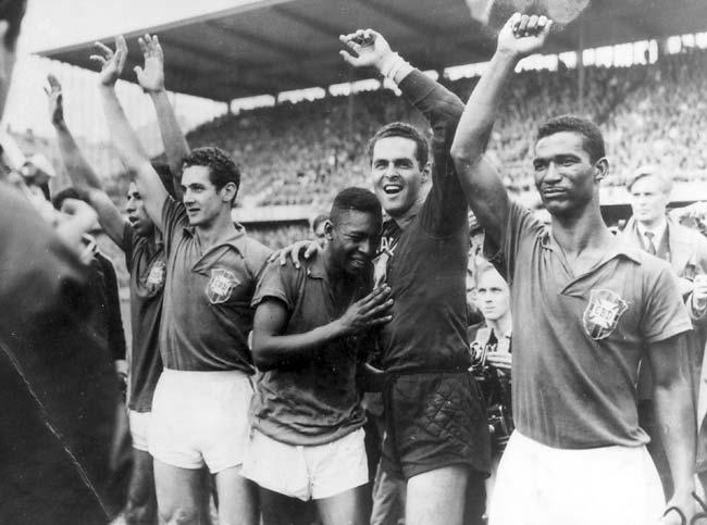 Brasilien VM 1958 udebane trøjer