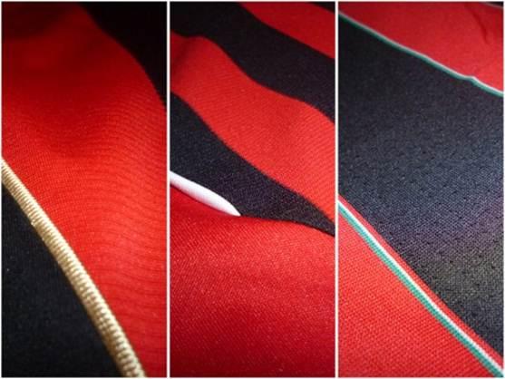 AC Milan jersey stripes