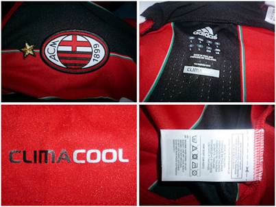 AC Milan home jersey details
