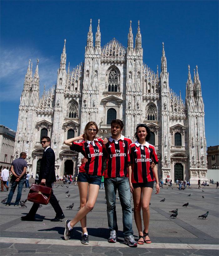 Milano Il Duomo AC Milan hjemme trøje!