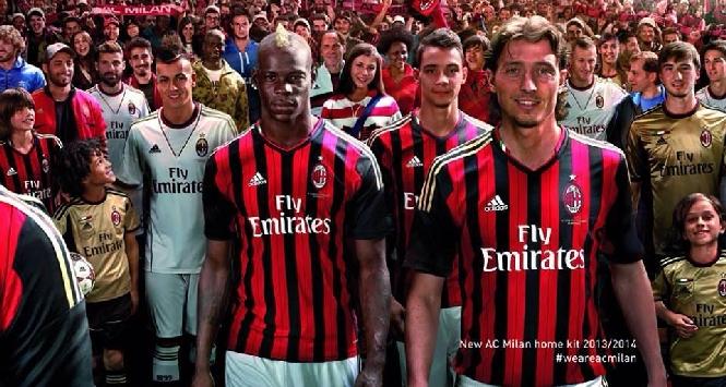 New AC Milan home jersey 13/14