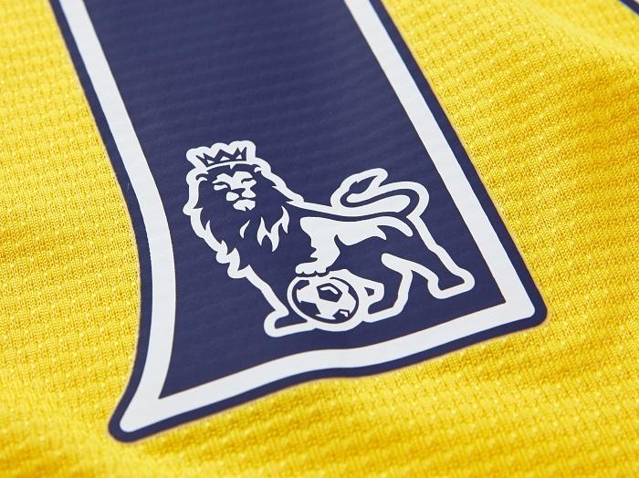 Arsenal away printing close-up EPL logo
