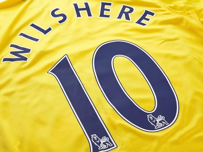 Arsenal away printing Wilshere 10