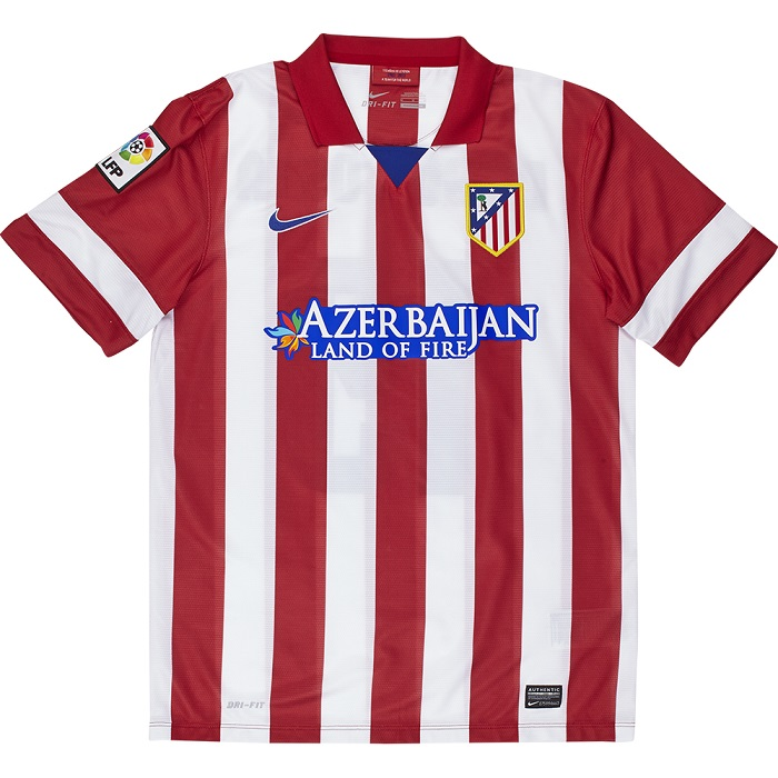 Atletico Madrid home jersey 2013/14 full