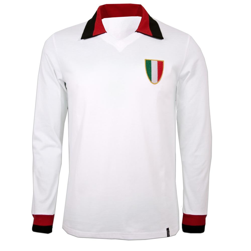 Copa Milan Away 1960's Long Sleeve Retro Shirt