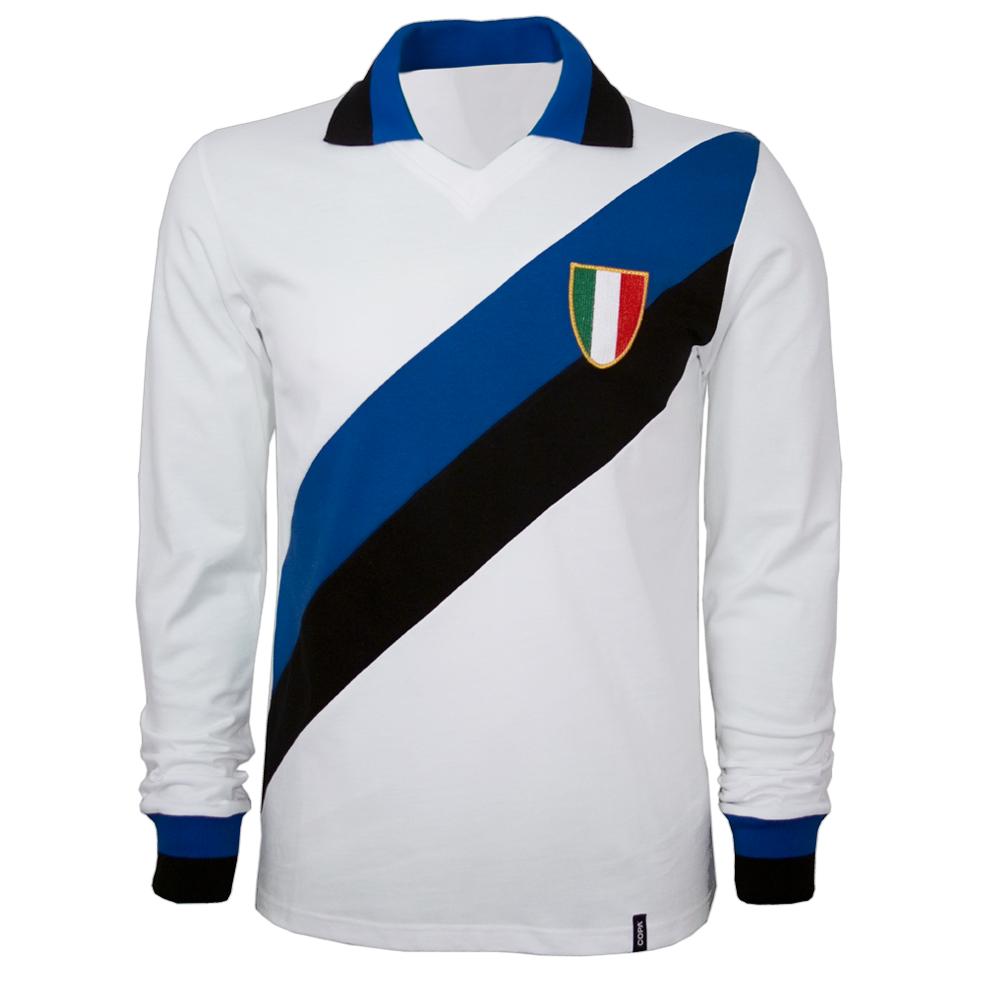 Copa Inter Away 1960's Long Sleeve Retro Shirt