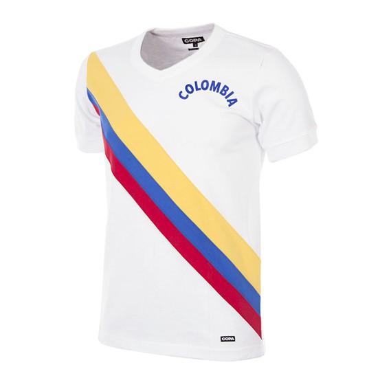Colombia 1973 Short Sleeve Retro Football Shirt