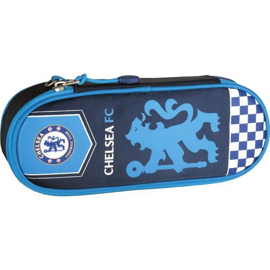 Chelsea pencil case - blue lion