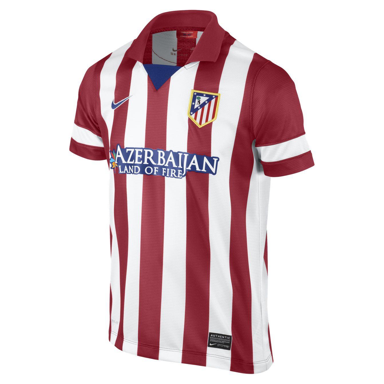 Atletico de madrid short sleeve jersey 2013/14