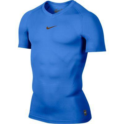 Nike Pro Combat short sleeve top - blue