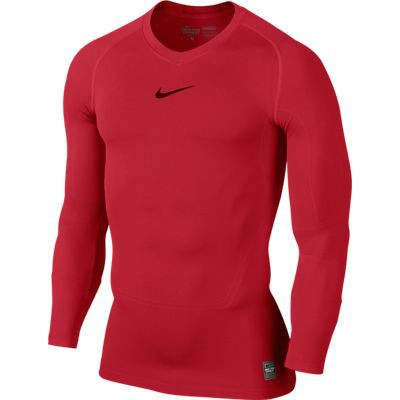 Nike Pro Combat long sleeve top - red
