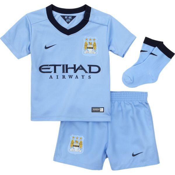 Manchester City home infants kit 2014/15