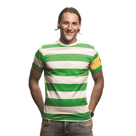Celtic Captain T-Shirt Green - White 100% cotton