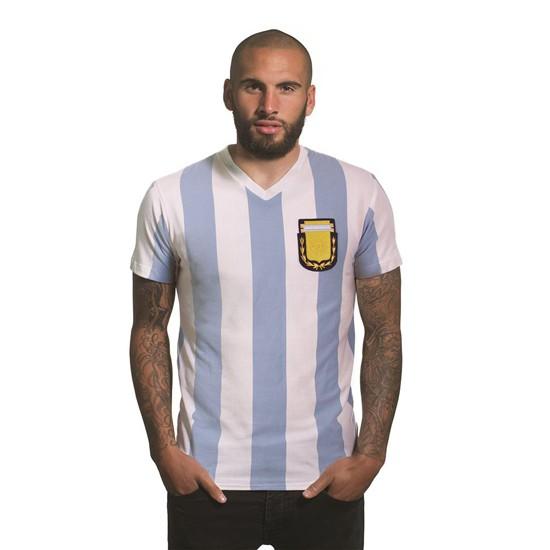 Argentina 1982 V-Neck T-Shirt   White