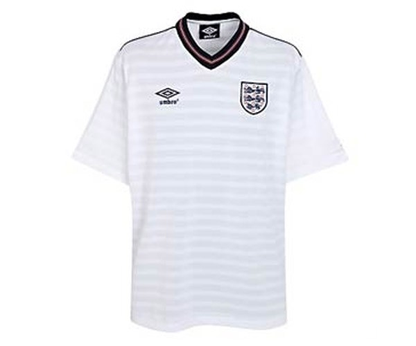 England 1986 world cup retro football jersey