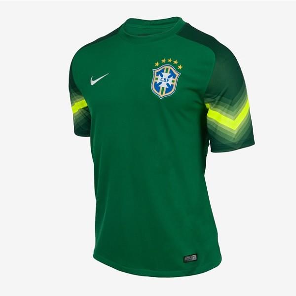 Brazil home goal keeper jersey World Cup 2014