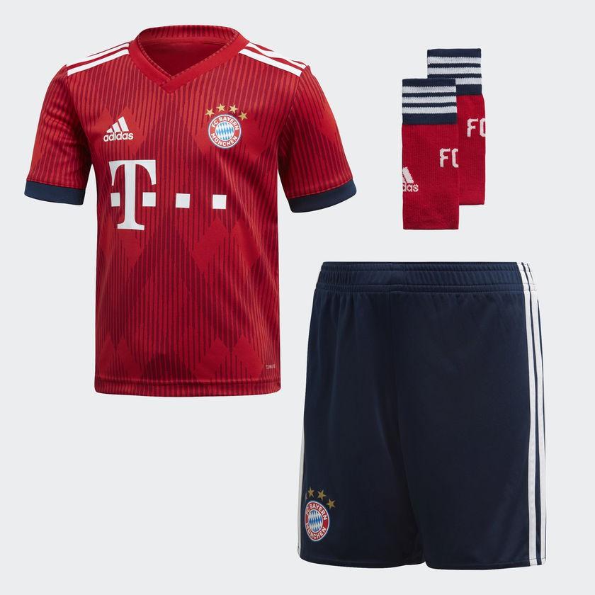 Fc Bayern Munchen Home Kit 2018 19 Little Boys