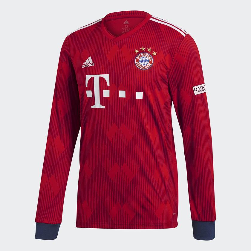 Bayern home jersey Long Sleeve