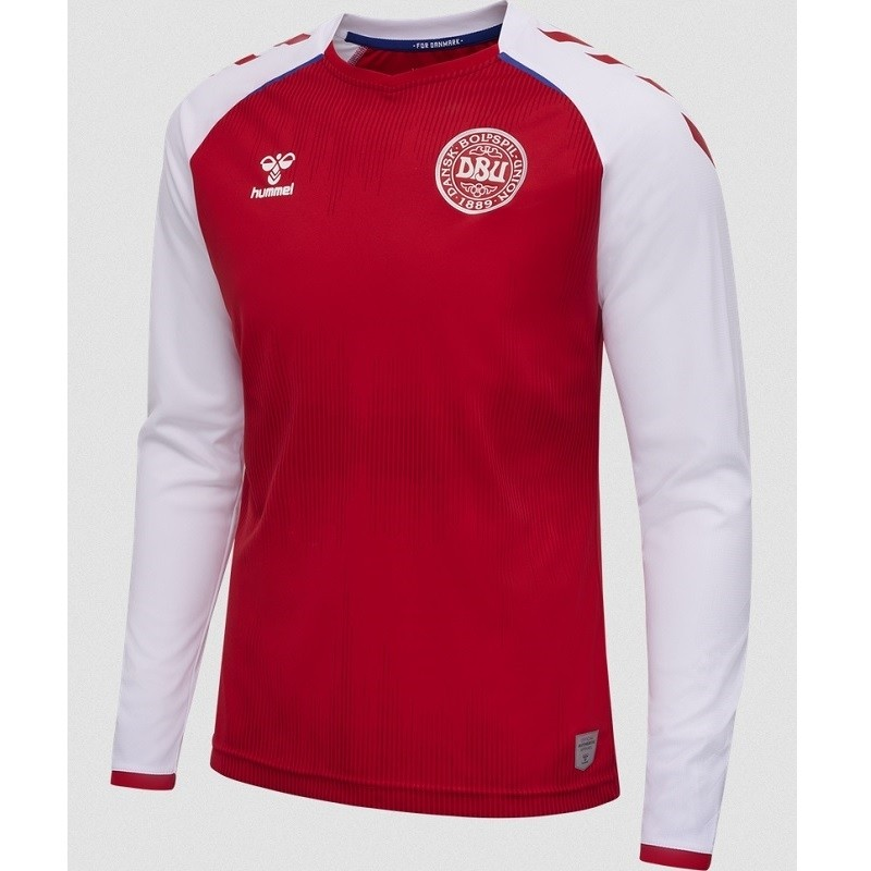 Denmark home jersey L/S 2020/22 - by Hummel