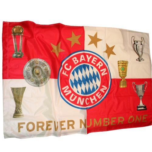 FC Bayern flag - trophies
