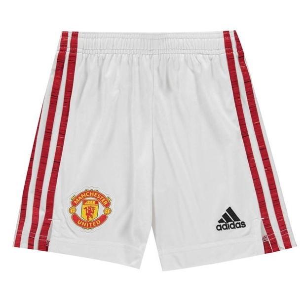 Man Utd home shorts - boys