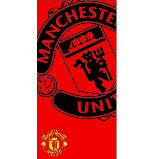 Official Manchester United Towel Black Logo
