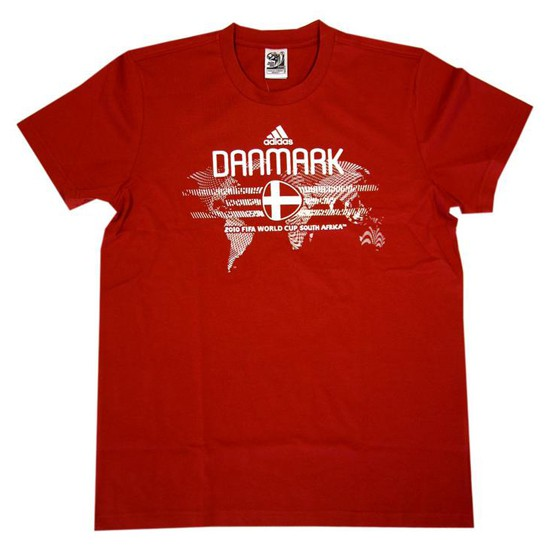 Denmark DBU t-shirt World Cup 2010 - red