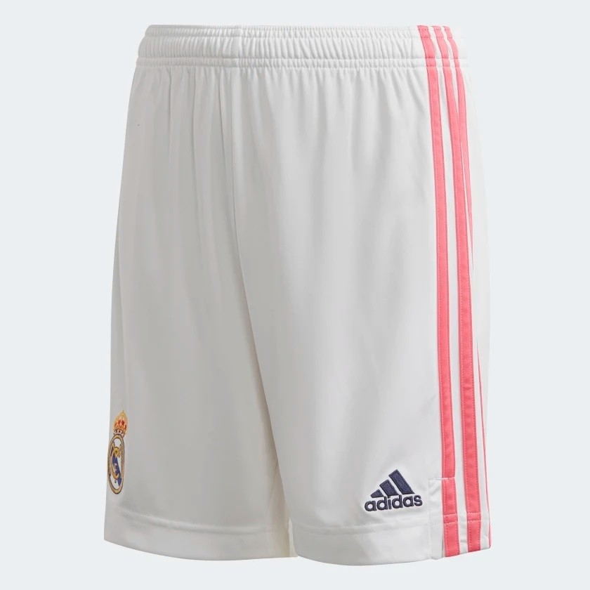 Real Madrid home shorts - boys