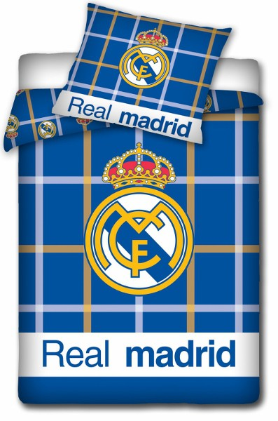 Real Madrid duvet set - chequered