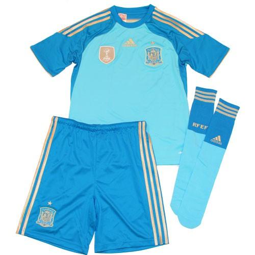 Spain goal keeper home minikit World Cup 2014