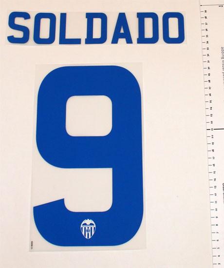 Valencia away print 2012/13 - Soldado 9