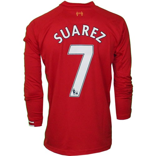 Liverpool home jersey long sleeve 2013/14 - S7
