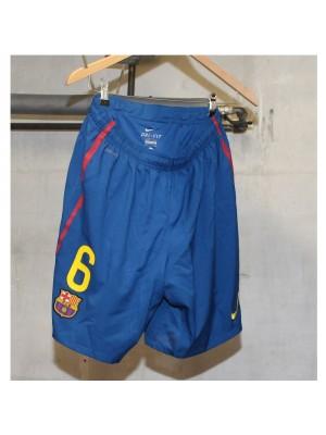 Barcelona 11/12 home shorts - number 6
