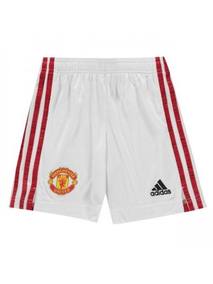 Man Utd home shorts - boys