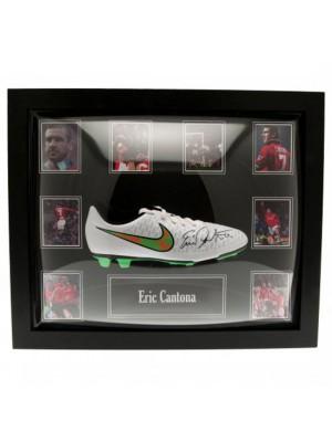 Manchester United FC Cantona Signed Boot (Framed)