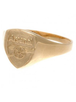 Arsenal Fc 9Ct Gold Crest Ring Medium