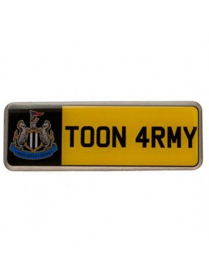 Newcastle United FC Number Plate Badge