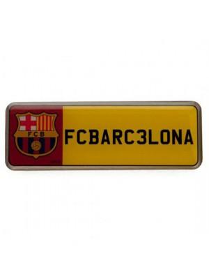 FC Barcelona Number Plate Badge