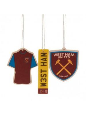 West Ham United FC 3 Pack Air Freshener