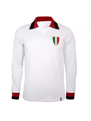 Copa Milan Away 1960's Long Sleeve Retro Shirt