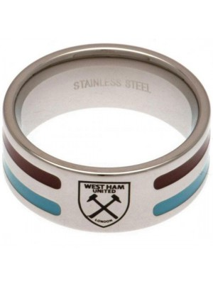 West Ham United FC Colour Stripe Ring Small