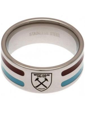 West Ham United FC Colour Stripe Ring Medium